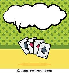 poker card doodle