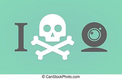 """""""I don't like"""" hieroglyph with a web cam"""