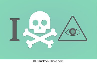 quot;I dont likequot; hieroglyph with an all seeing eye -...