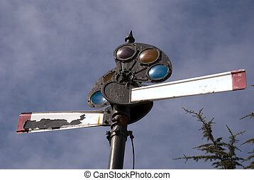 Vinrtage Railway Traffic Signal - A vintage railway traffic...