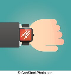 Isolated smart watch icon with missiles - Illustration of a...