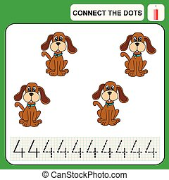 0116_41 connect the dots - Connect the dots, preschool...