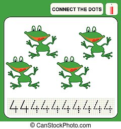 0116_42 connect the dots - Connect the dots, preschool...