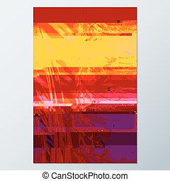 colored abstract glitch art design background - vector...