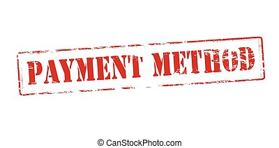 Payment method - Rubber stamp with text payment method...