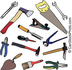 vector work tools - Vector work tools. Stock illustration...