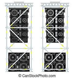 line array concert acoustics scaffold suspension...