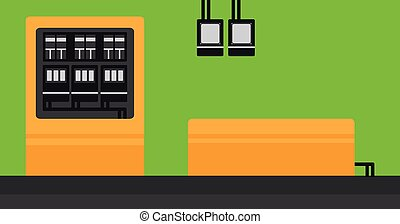 Background of electric switchboard - Background of electric...