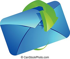 E-mail with arrow vector illustration