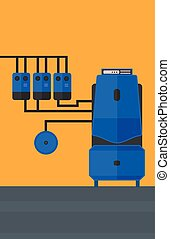 Background of domestic household boiler room - Background of...