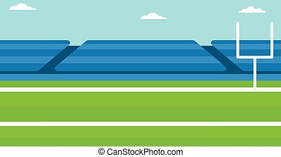 Background of rugby stadium. - Background of rugby stadium...