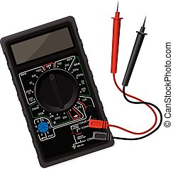 Digital black multimeter vector illustration in eps 10
