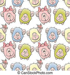 Sheep seamless pattern - Cute Sheep seamless pattern for...