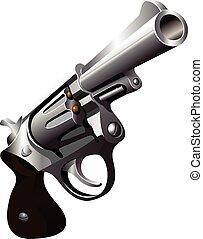 Revolver vector illustration - Silver revolver vector...