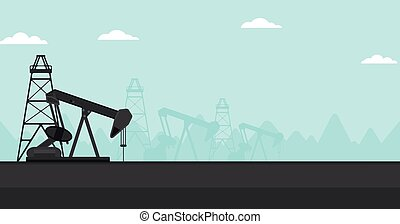 Background of oil derrick. - Background of oil derrick...