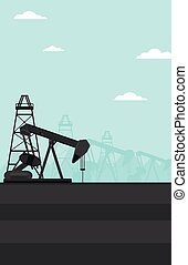 Background of oil derrick - Background of oil derrick vector...