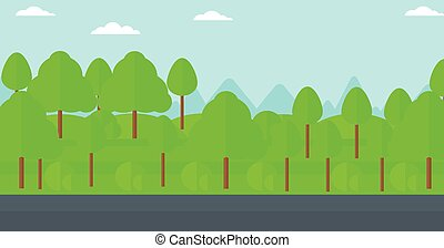 Background of green forest. - Background of forest with an...
