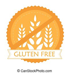 Gluten free - Isolated label with text for gluten free...