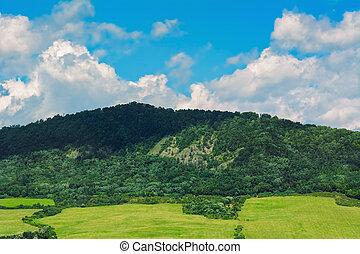 Mountain Range Near Kapushany In Presov District, Slovakia