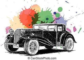 Vintage Retro Classic Car Vector