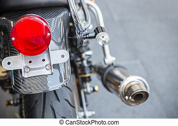 light - Selective focus plate of number plate motorcycle