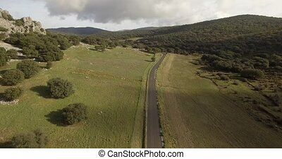 4K Aerial, Flight along mountains - Different approaches,...