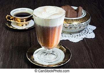 irish coffee - irish coffe with cookies