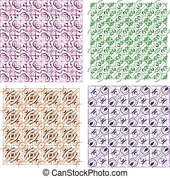 vector set abstract seamless patterns