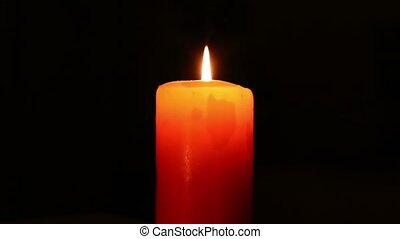 lighting single candle
