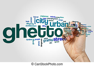 Ghetto word cloud concept - Ghetto word cloud