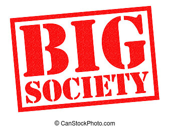 BIG SOCIETY red Rubber Stamp over a white background.