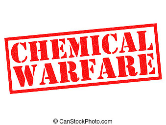 CHEMICAL WARFARE red Rubber Stamp over a white background