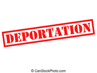 DEPORTATION red Rubber Stamp over a white background
