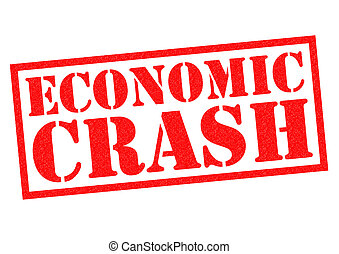 ECONOMIC CRASH red Rubber stamp over a white background