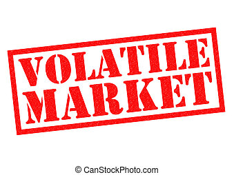 VOLATILE MARKET red Rubber Stamp over a white background.