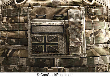Close up of bulletproof vest - Close up shot of bulletproof...