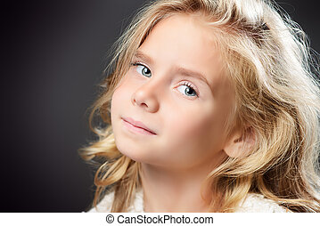 angelic child - Close-up portrait of a pretty little girl...