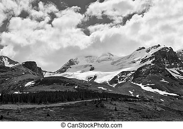 Mount Athabasca scenic view - view of the Mount Athabasca...