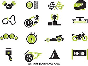 Racing icons - Racing simply symbols for web and user...