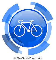 bicycle blue glossy circle modern web icon