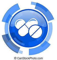 medicine blue glossy circle modern web icon
