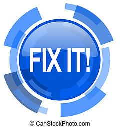 fix it blue glossy circle modern web icon