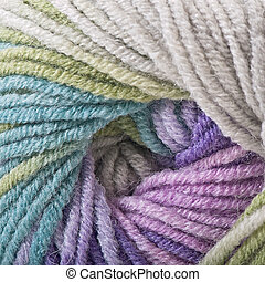 Natural wool, knitting background