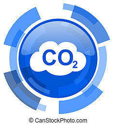 carbon dioxide blue glossy circle modern web icon