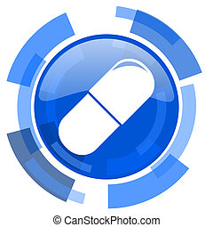 drugs blue glossy circle modern web icon