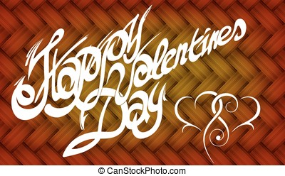 Card for Valentine's Day, calligraphic font, handmade,...