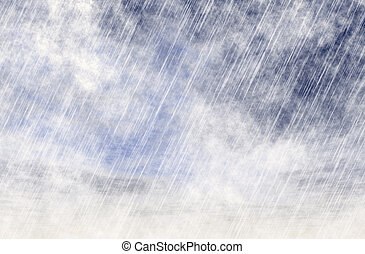 rain storm backgrounds in cloudy fog weather