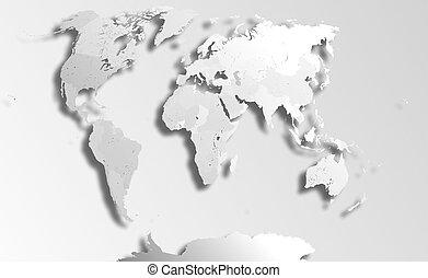地圖, 政治, 世界