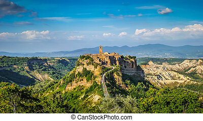 Civita di Bagnoregio, Lazio, Italy - Beautiful panoramic...