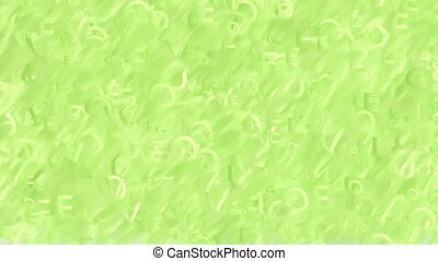 Animated words green background - Abstract blurred light...